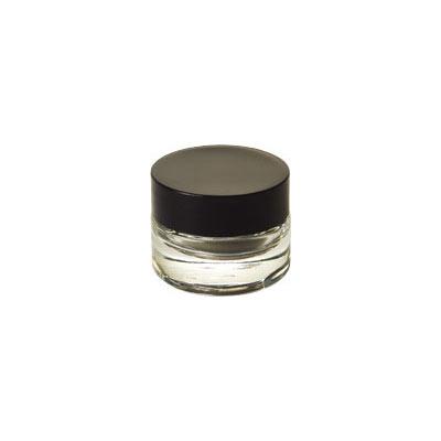 Clear Jar w/Black Cap and Box